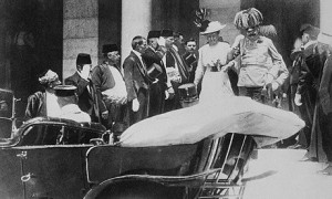 Franz and wife getting in car